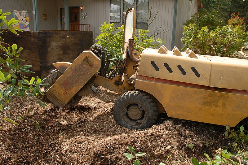 Stump Grinding Machine - We always provide free written estimates with very competitive prices. Call us today!